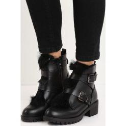 Czarne Botki Hairy Nose. Czarne buty zimowe damskie Born2be, na niskim obcasie. Za 89,99 zł.
