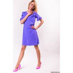 Sukienki hiszpanki: Sukienka damska PEONY LOOK fioletowa