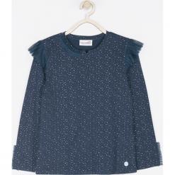 Koszulka. Niebieskie bluzki dziewczęce bawełniane marki bonprix, z długim rękawem, długie. Za 49,90 zł.