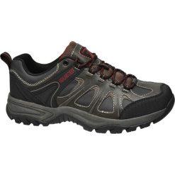 Trekkingowe buty męskie Highland Creek czarne. Czarne buty trekkingowe damskie Highland Creek, z materiału, na sznurówki. Za 83,00 zł.