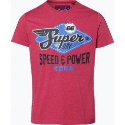 Superdry - T-shirt męski, czerwony. Czerwone t-shirty męskie z nadrukiem Superdry, m, z klasycznym kołnierzykiem. Za 149,95 zł.