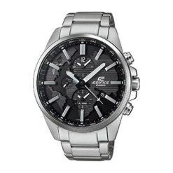 """Zegarki męskie: Zegarek """"ETD-300D-1AVUEF"""" w kolorze srebrno-czarnym"""