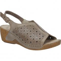 SANDAŁY RIEKER 65696-62. Czarne sandały damskie marki Rieker, z materiału. Za 169,99 zł.