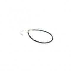 Bransoletka Spinel Metalizowany srebro. Czarne bransoletki damskie na nogę Brazi druse jewelry, srebrne. Za 210,00 zł.