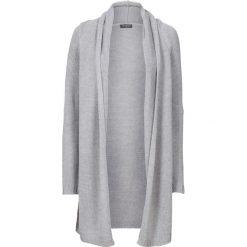 Długi sweter bez zapięcia bonprix jasnoszary melanż. Szare swetry oversize damskie bonprix. Za 79,99 zł.