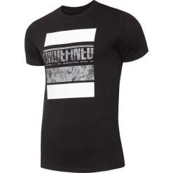 T-shirty męskie z nadrukiem: T-shirt męski TSM010 – głęboka czerń
