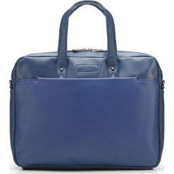 Torba na laptopa 87-3P-503-N. Niebieskie torby na laptopa Wittchen, w paski. Za 399,00 zł.
