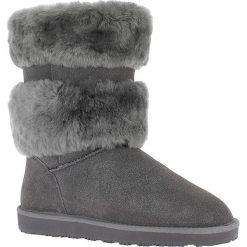 """Buty zimowe damskie: Skórzane kozaki """"Mara"""" w kolorze antracytowym"""