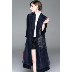 Płaszcz w kolorze ciemnoniebieskim. Niebieskie płaszcze damskie marki Zeraco. W wyprzedaży za 389,95 zł.