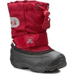 Śniegowce KAMIK - Icepop2 NK9123 Red. Czerwone buty zimowe chłopięce marki Kamik, z materiału. W wyprzedaży za 149,00 zł.