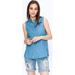 Levi's - Koszula. Brązowe koszule jeansowe damskie Levi's®, m, casualowe, z klasycznym kołnierzykiem, z krótkim rękawem. W wyprzedaży za 149,90 zł.