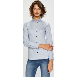 Medicine - Koszula Basic. Szare koszule damskie MEDICINE, l, z bawełny, klasyczne, z klasycznym kołnierzykiem, z długim rękawem. Za 79,90 zł.