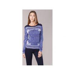Swetry Cream  SUSSI. Niebieskie swetry klasyczne damskie Cream, l. Za 244,30 zł.