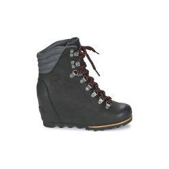 Śniegowce Sorel  CONQUEST WEDGE. Czarne buty zimowe damskie Sorel. Za 630,00 zł.