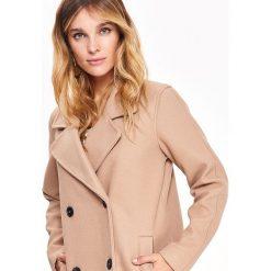 cbe316d737949 DWURZĘDOWY ELEGANCKI DŁUGI PŁASZCZ. Brązowe płaszcze damskie Top Secret, na  zimę, bez wzorów