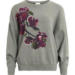 Swetry damskie: Sweter, okrągły dekolt, cienka dzianina