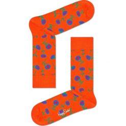 Happy Socks - Skarpetki Sunflower. Pomarańczowe skarpetki damskie Happy Socks, z bawełny. Za 39,90 zł.
