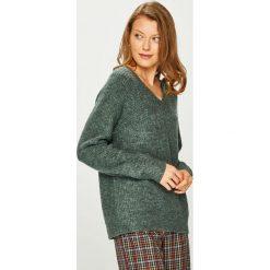 Vila - Sweter. Szare swetry klasyczne damskie Vila, l, z dzianiny. W wyprzedaży za 99,90 zł.