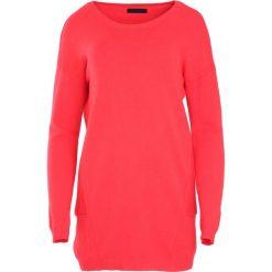 Czerwony Sweter Nonchalance. Czerwone swetry klasyczne damskie Born2be, l, z dzianiny, z okrągłym kołnierzem. Za 74,99 zł.