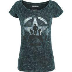 Call Of Duty WWII Koszulka damska zielony/czarny. Czarne bluzki z odkrytymi ramionami Call Of Duty, l, z nadrukiem, z dekoltem w łódkę. Za 42,90 zł.