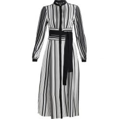 Sukienki hiszpanki: Karen Millen GRAPHIC STRIPE MIDI DRESS Sukienka koszulowa black/white