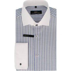Koszula RICCARDO 14-05-02. Białe koszule męskie na spinki Giacomo Conti, m, w paski, z bawełny. Za 199,00 zł.