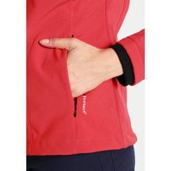 CMP WOMEN JACKET ZIP HOOD Kurtka Softshell ferrarinero. Czerwone kurtki sportowe damskie marki CMP, z materiału. W wyprzedaży za 213,95 zł.