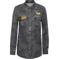 Bluzki asymetryczne: Bluzka z cekinami na kieszonce bonprix szary