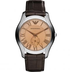Zegarek EMPORIO ARMANI - Valente AR1704 Dark Brown/Silver Steel. Brązowe zegarki męskie Emporio Armani. Za 809,00 zł.
