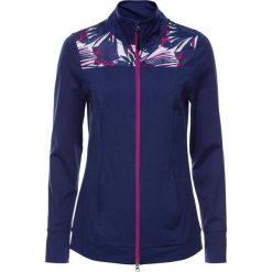 Lekka bluza sportowa z kontrastowymi wstawkami, długi rękaw bonprix kobaltowy melanż. Niebieskie bluzy rozpinane damskie marki bonprix, melanż, z długim rękawem, długie. Za 59,99 zł.