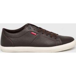 Levi's - Buty Woods. Brązowe buty sportowe męskie Levi's®, z gumy, na sznurówki. Za 229,90 zł.