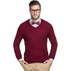 Sweter MANUELE SWAR000244. Brązowe swetry klasyczne męskie Giacomo Conti, na jesień, m, z wełny, dekolt w kształcie v. Za 249,00 zł.