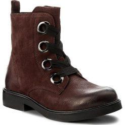 Botki LASOCKI - WI16-MEDIA-02 Bordowy. Czerwone buty zimowe damskie Lasocki, z nubiku, na obcasie. Za 229,99 zł.