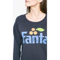 Only - Bluza Fanta. Szare bluzy z nadrukiem damskie marki ONLY, s, z bawełny, casualowe, z okrągłym kołnierzem. W wyprzedaży za 89,90 zł.