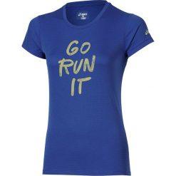 Asics Koszulka Graphic SS niebieska r. XS (132111 8091). Niebieskie topy sportowe damskie marki Asics, m, z elastanu. Za 84,00 zł.
