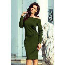 KLAUDIA Sukienka z odkrytymi ramionami - KHAKI. Niebieskie sukienki na komunię marki Reserved, z odkrytymi ramionami. Za 149,99 zł.