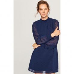 Sukienka mini - Granatowy. Niebieskie sukienki mini marki Reserved. W wyprzedaży za 59,99 zł.