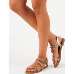 Sandały damskie: Złote sandały damskie SWEET SHOES żółte