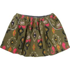 Spódniczki dziewczęce z falbankami: Spódnica w kolorze oliwkowo-różowym