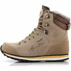 """Skórzane botki """"Xalina"""" w szarobrązowym. Szare buty trekkingowe damskie marki Marco Tozzi. W wyprzedaży za 391,95 zł."""