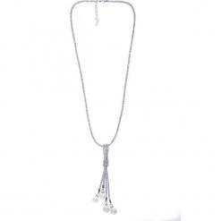 Długi srebrny naszyjnik z perłami QUIOSQUE. Szare naszyjniki damskie QUIOSQUE, srebrne. Za 59,99 zł.