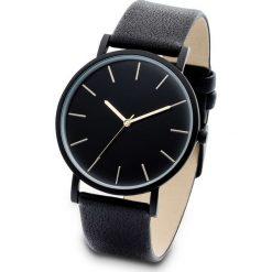Zegarek na rękę bonprix czarny. Czarne zegarki damskie bonprix, sztuczne. Za 74,99 zł.