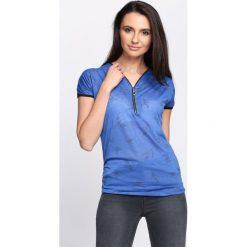 Bluzki damskie: Ciemnoniebieski T-shirt Don't Ask
