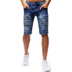 Spodenki i szorty męskie: Spodenki męskie jeansowe niebieskie (sx0676)