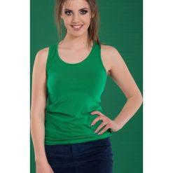 Bluzki damskie: Bluzka basic bokserka soczysta zieleń