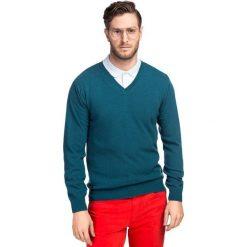 Sweter FABRIZIO SWZR000108. Niebieskie swetry klasyczne męskie Giacomo Conti, m, z materiału. Za 229,00 zł.