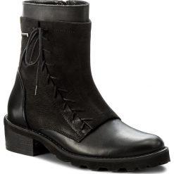 Botki LASOCKI - 2490 Czarny. Czarne buty zimowe damskie Lasocki, z nubiku. Za 299,99 zł.