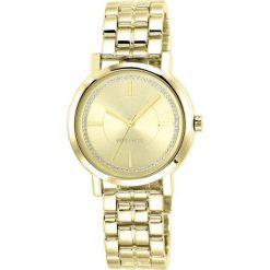 Zegarek Nine West Damski  NW/1642CHGB Fashion Cyrkonie złoty. Żółte zegarki damskie Nine West, złote. Za 311,70 zł.
