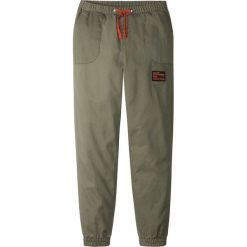 Odzież chłopięca: Spodnie chino z elastycznym paskiem bonprix oliwkowy