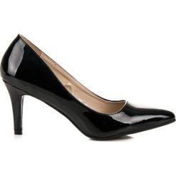 Czarne lakierowane czółenka VINCEZA Czarne. Czarne buty ślubne damskie Vinceza, z lakierowanej skóry. Za 89,90 zł.